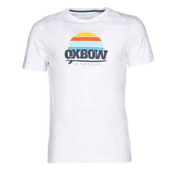 textil Herr T-shirts Oxbow M1TEKSO Vit