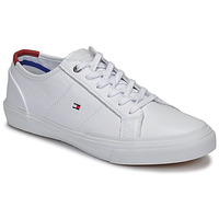 Skor Herr Sneakers Tommy Hilfiger CORE CORPORATE FLAG SNEAKER Vit