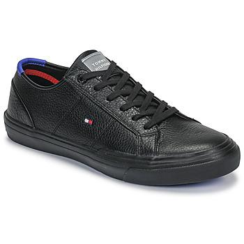 Skor Herr Sneakers Tommy Hilfiger CORE CORPORATE FLAG SNEAKER Svart