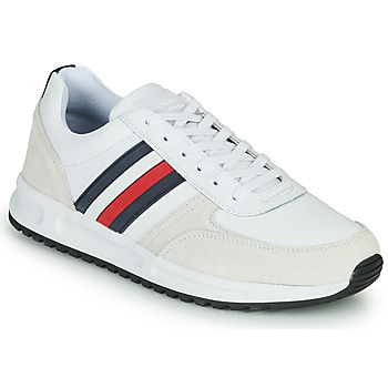 Skor Herr Sneakers Tommy Hilfiger MODERN CORPORATE LEATHER RUNNER Vit