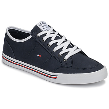 Skor Herr Sneakers Tommy Hilfiger CORE CORPORATE TEXTILE SNEAKER Bl?