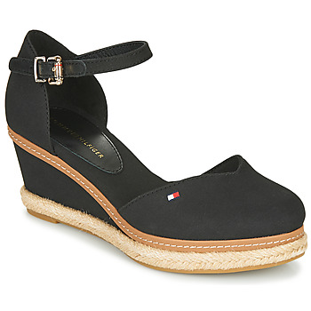 Skor Dam Sandaler Tommy Hilfiger BASIC CLOSED TOE MID WEDGE Svart