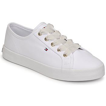 Skor Dam Sneakers Tommy Hilfiger ESSENTIAL NAUTICAL SNEAKER Vit