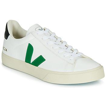 Skor Sneakers Veja CAMPO Vit / Grön / Svart