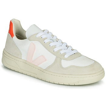 Skor Dam Sneakers Veja V-10 Vit / Orange / Rosa