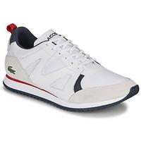 Skor Herr Sneakers Lacoste AESTHET 120 2 SMA Vit / Blå / Röd