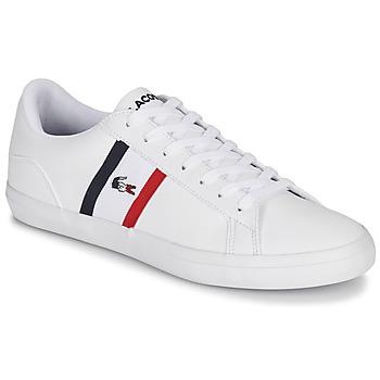Skor Herr Sneakers Lacoste LEROND TRI1 CMA Vit / Bl? / R?d