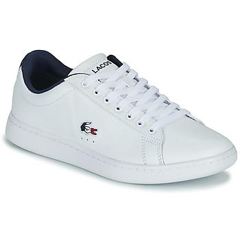 Skor Dam Sneakers Lacoste CARNABY EVO TRI 1 SFA Vit / Marin / Röd