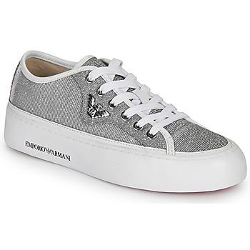 Skor Dam Sneakers Emporio Armani X3X109-XL487 Silver