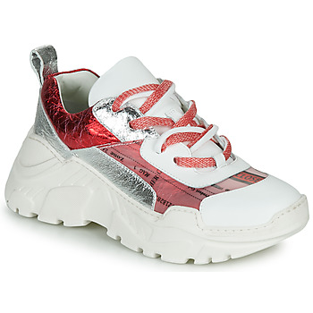 Skor Dam Sneakers Fru.it CARETTE Vit / Röd / Silver