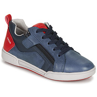 Skor Pojkar Sneakers Geox J POSEIDO BOY Marin / Röd