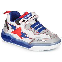 Skor Pojkar Sneakers Geox J INEK BOY Vit / Blå / Röd