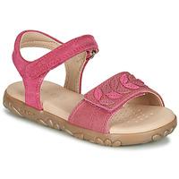 Skor Flickor Sandaler Geox J SANDAL HAITI GIRL Fuchsia