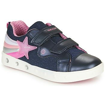 Skor Flickor Sneakers Geox J SKYLIN GIRL Marin / Rosa