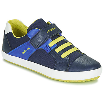 Skor Pojkar Sneakers Geox J GISLI BOY Marin / Gul