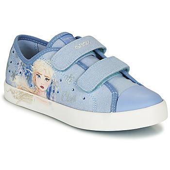 Skor Flickor Sneakers Geox JR CIAK GIRL Blå
