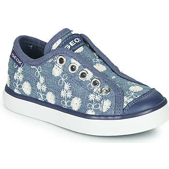 Skor Flickor Sneakers Geox JR CIAK GIRL Blå / Vit