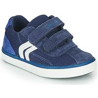 Skor Pojkar Sneakers Geox B KILWI BOY Blå / Vit
