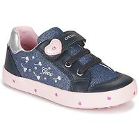 Skor Flickor Sneakers Geox B KILWI GIRL Blå / Rosa