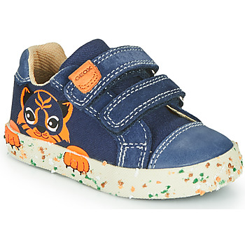 Skor Pojkar Sneakers Geox B KILWI BOY Marin / Brun