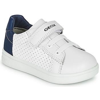 Skor Pojkar Sneakers Geox B DJROCK BOY Vit / Blå