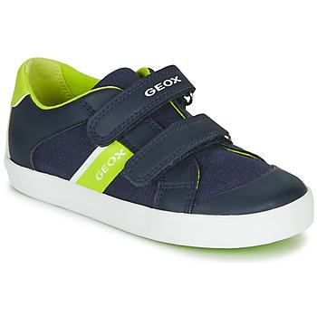 Skor Pojkar Sneakers Geox B GISLI BOY Marin / Grön