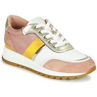 Skor Dam Sneakers Geox D TABELYA Rosa / Vit / Gul