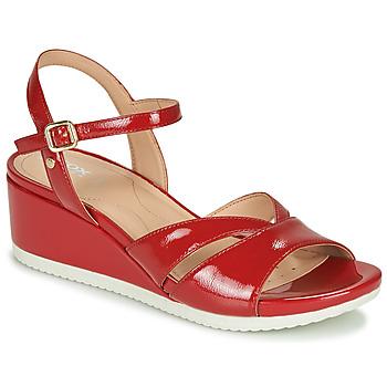 Skor Dam Sneakers Geox D ISCHIA Röd