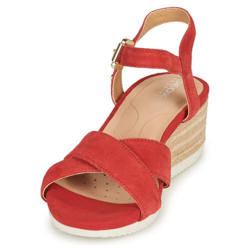 D ISCHIA CORDA  Geox  sandaler  dam  röd