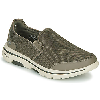 Skor Herr Slip-on-skor Skechers GO WALK 5 Kaki