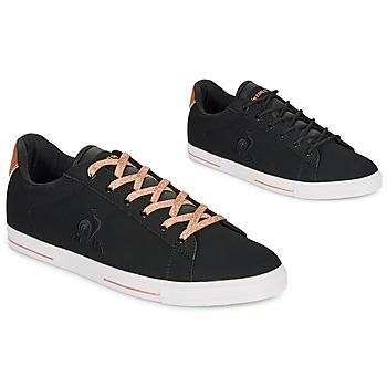 Skor Dam Sneakers Le Coq Sportif AGATE METALLIC Svart / Guldfärgad
