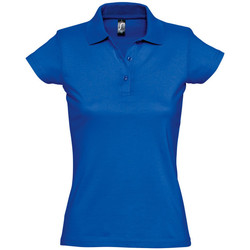 textil Dam Kortärmade pikétröjor Sols PRESCOTT POLO MUJER Azul