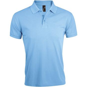 textil Herr Kortärmade pikétröjor Sols PRIME ELEGANT MEN Azul