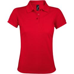 textil Dam Kortärmade pikétröjor Sols PRIME ELEGANT WOMEN Rojo
