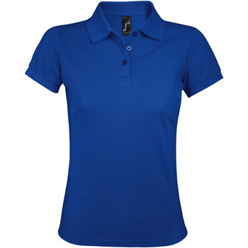 textil Dam Kortärmade pikétröjor Sols PRIME ELEGANT WOMEN Azul