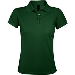textil Dam Kortärmade pikétröjor Sols PRIME ELEGANT WOMEN Verde