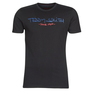 textil Herr T-shirts Teddy Smith TICLASS Svart