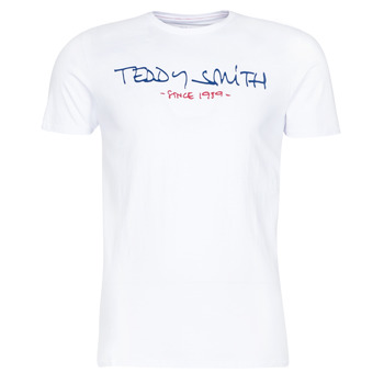 textil Herr T-shirts Teddy Smith TICLASS Vit