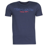textil Herr T-shirts Teddy Smith TICLASS Marin