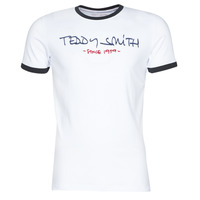textil Herr T-shirts Teddy Smith RINGER TEE Vit
