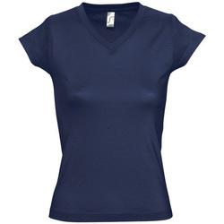 textil Dam T-shirts Sols MOON COLORS GIRL Azul