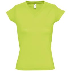 textil Dam T-shirts Sols MOON COLORS GIRL Verde