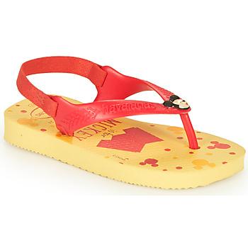 Skor Pojkar Flip-flops Havaianas BABY DISNEY CLASSICS II Gul / Röd