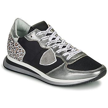 Skor Dam Sneakers Philippe Model TROPEZ X Svart / Silverfärgad