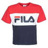 textil Dam T-shirts Fila ALLISON Marin / Röd / Vit