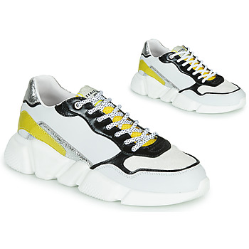 Skor Dam Sneakers Serafini OREGON Vit / Svart / Gul