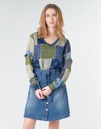 textil Dam Blusar Cream CLODIE Blå