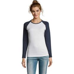 textil Dam Långärmade T-shirts Sols MILKY LSL SPORT Multicolor