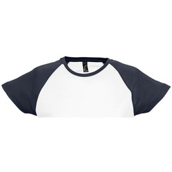 textil Dam T-shirts Sols MILKY BICOLOR SPORT Multicolor