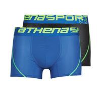 Underkläder  Herr Boxershorts Athena AIR PERFORMANCE PACK X2 Svart / Blå